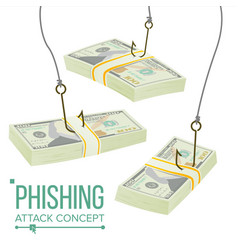 phishing money concept fraud theft vector image