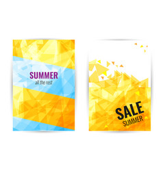 poster abstract geometric vertical summer sale vector image