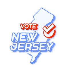 Presidential vote in new jersey usa 2020 state vector