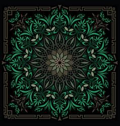 Psychedelic mandala geometric vector