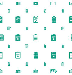 Questionnaire icons pattern seamless white vector