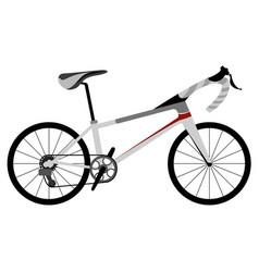 racing bicycle icon vector image