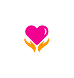 romance care logo icon design vector image