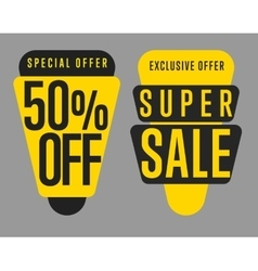 Sale tag isolated set vector image