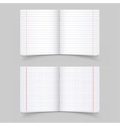 School notebooks vector
