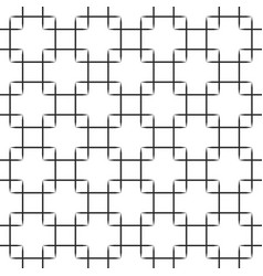 seamless black squares pattern on white vector image