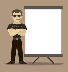 security man standing vector image