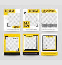 set minimalist geometric posters with line vector image