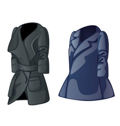Set of autumn trench coat and raincoat for men vector
