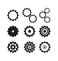 set of cogwheels icons vector image