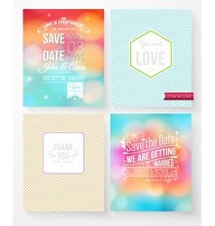 Set of wedding invitation templates vector image
