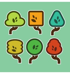 Simple Tree Icons vector