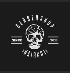 Skull hair cut vector