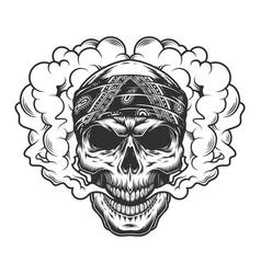 Skull vaper concept vector