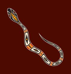 Snake aboriginal art style vector