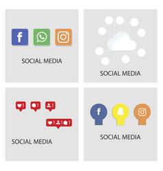 Social media icons facebook instagram icon vector