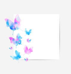 Square background with beautiful watercolored vector