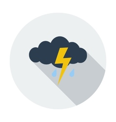 Storm flat icon vector image