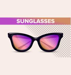Vintage stylish sunglasses trendy 3d vector