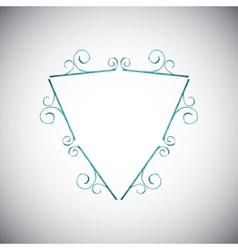 Watercolor geometric frame vector