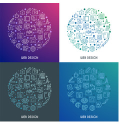 web design concepts set vector image