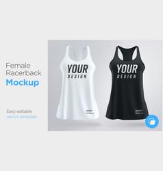 women s white and black sleeveless tank top vector image
