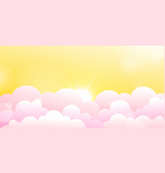Yellow sky and rose clouds vector