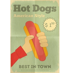 Big Hot Dog vector image vector image