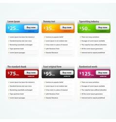 Elements for website vector