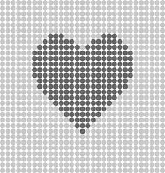 heart icon grey vector image vector image