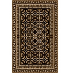 Rug with patterned beige and brown shades vector image vector image