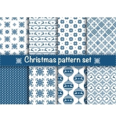 Seamless christmas patterns vector image