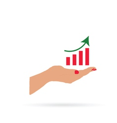 success in hand color vector image vector image