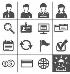 Telecommuting icons set - Simplus series vector image vector image