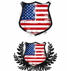 American grunge shield vector image