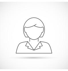 Businesswoman avatar thin line icon vector image vector image