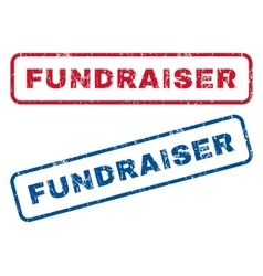 Fundraiser rubber stamps vector