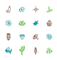 native symbols vector image