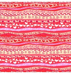 Red Love Valentins Day Waves Seamless Background vector image vector image