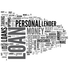 what you need to know about uk personal loans vector image vector image