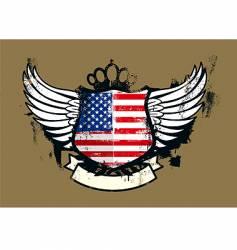 American grunge emblem vector image vector image