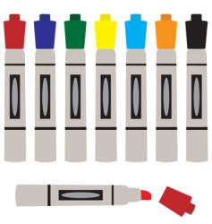set of colored markers vector image