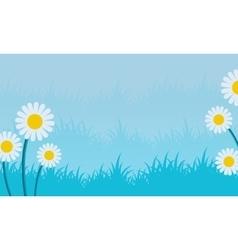 spring landscape with blue backgrounds vector image
