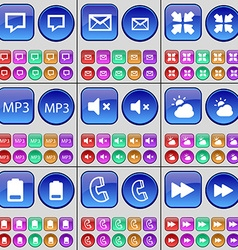 Chat bubble Message Deploying screen MP3 Mute vector image vector image