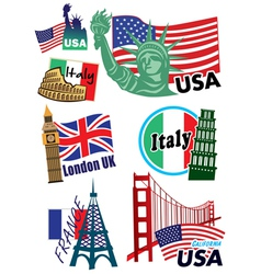 Country sticker vector image vector image