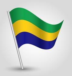 Gabonese flag on pole vector