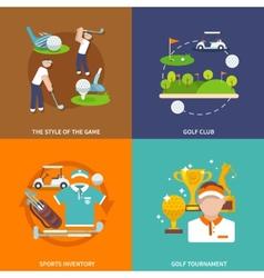 Golf flat set vector image vector image