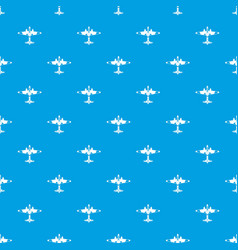 Military fighter aircraft pattern seamless blue vector