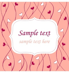 valentines card background vector image vector image
