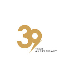 39 year anniversary template design vector image